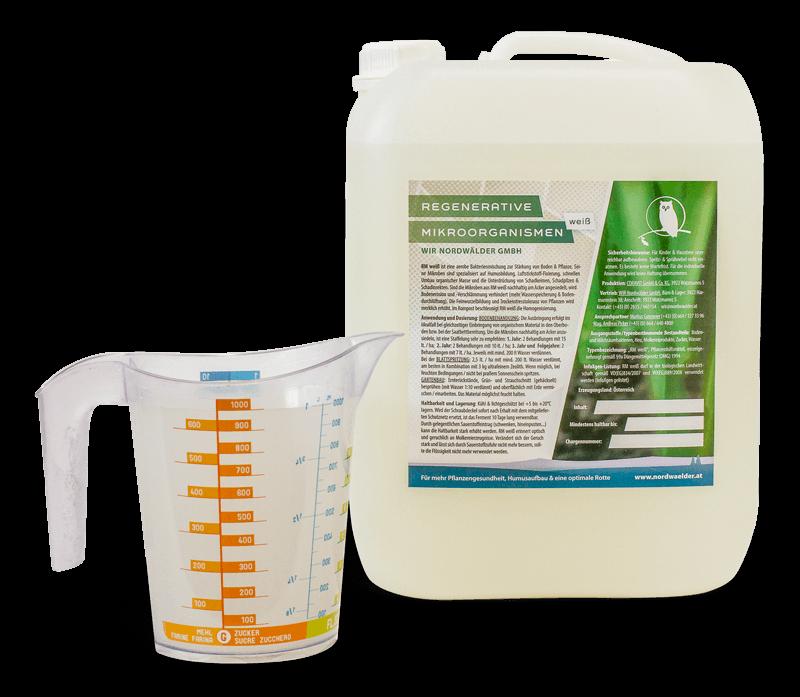 RM weiß probiotische Mikroorganismen im 10 Liter-Kanister